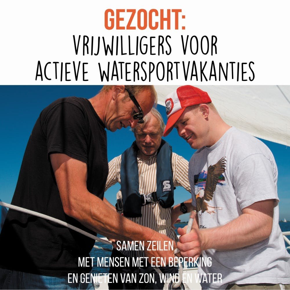 Verpleegkundige vrijwilligers voor actieve watersportvakanties in Friesland