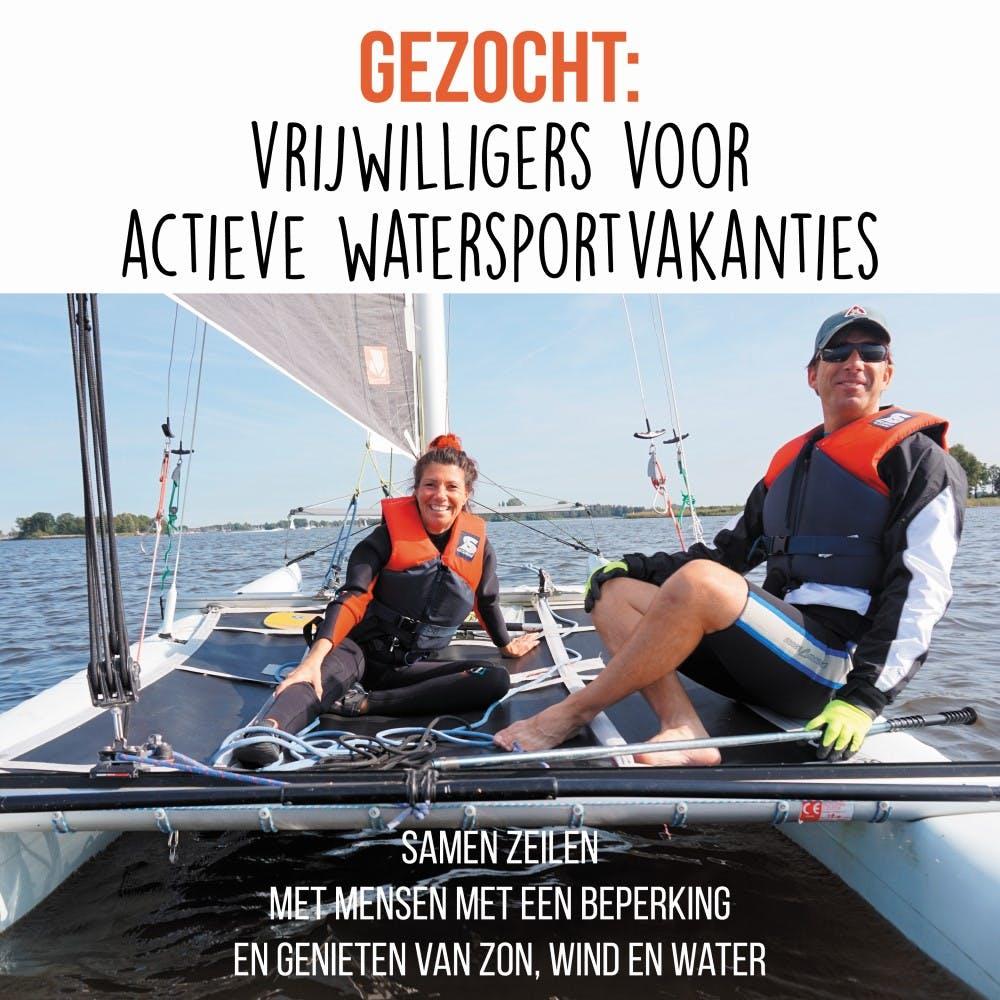 Verpleegkundige vrijwilligers voor watersport op Loosdrechtse Plassen!