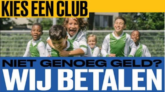 De campagne Kies een club biedt ouders die de contributie of het lesgeld niet zelf kunnen betalen, de mogelijkheid contact met ons op te nemenvia het speciale telefoonnummer 088 – 8 800 888 of via kieseenclub.nl.