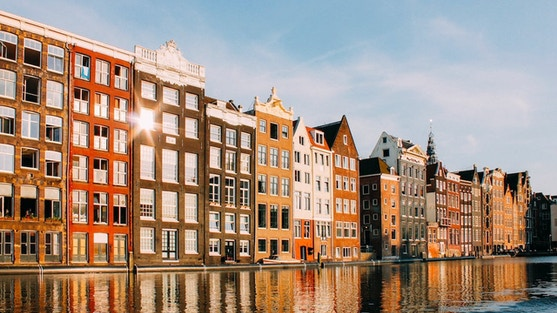 view of amsterdam canals