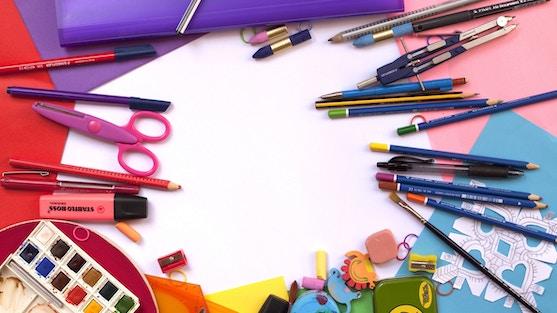 potloden en creatieve tools