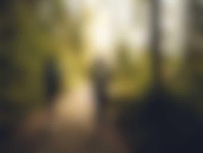 Twee mensen die wandelen