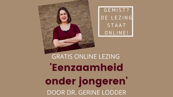 Eenzaamheid onder jongeren - gratis online lezing - Vrijwilligerscentrale Utrecht