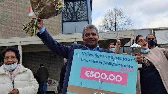Winnaar van de Utrechtse Vrijwilligerstrofee 2020 -  Ronald Kalka won deze waarderingsprijs voor zijn vrijwilligerswerk in Utrecht