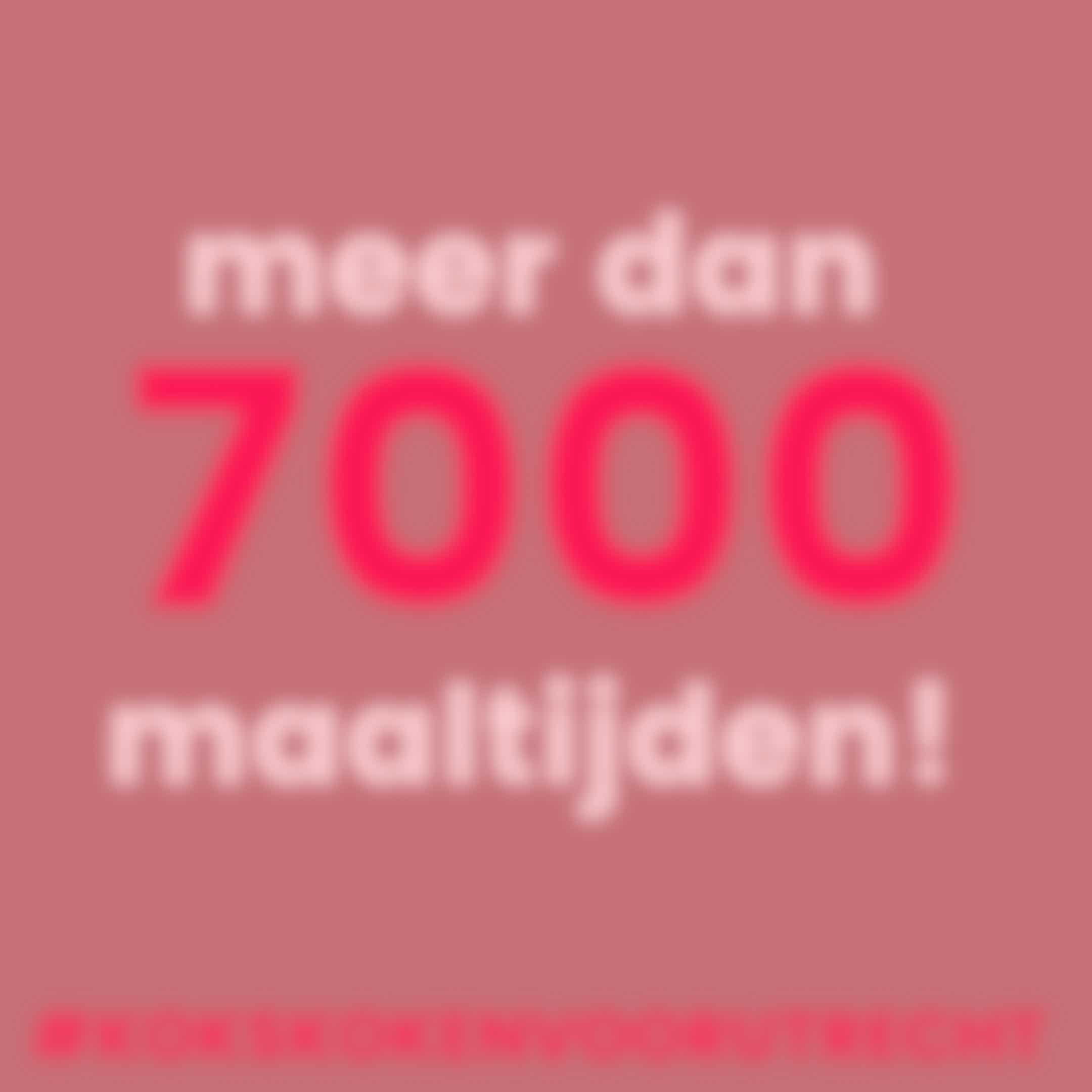 7000 maaltijden #kokskokenvoorutrecht