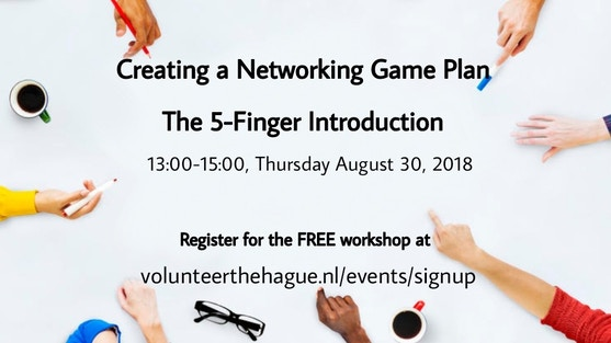 """Creating a Networking Game Plan"" with Cathy Delhanty, social activist, international professional speaker and the founder of stichting Wool for Warmth"