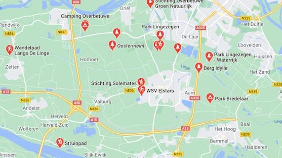 Wandelroutes in Overbetuwe. Waterrijk West