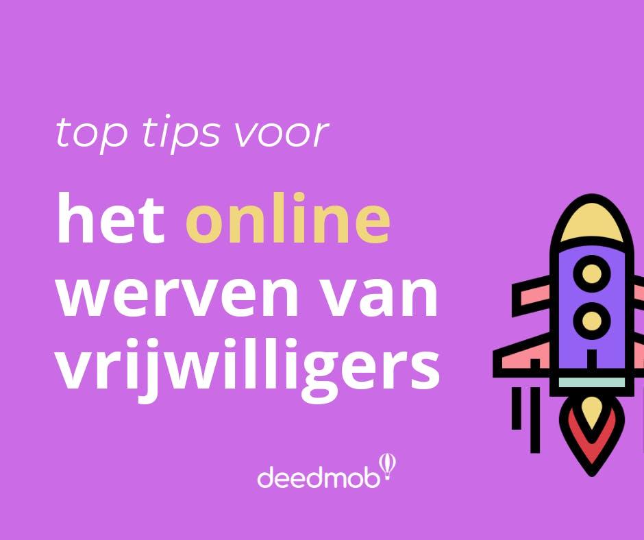 Tips voor het online werven van vrijwilligers